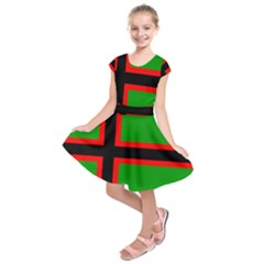 Karelia Nationalist Flag Kids  Short Sleeve Dress by abbeyz71