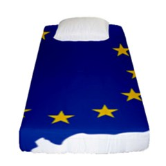 European Union Flag Map Of Andorra Fitted Sheet (single Size) by abbeyz71