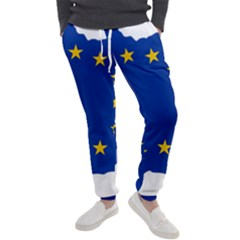 European Union Flag Map Of Andorra Men s Jogger Sweatpants by abbeyz71