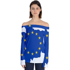 European Union Flag Map Of Andorra Off Shoulder Long Sleeve Top by abbeyz71
