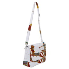Egypt Egyptian Pharaonic Horses Shoulder Bag With Back Zipper by Sapixe