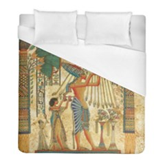 Egyptian Man Sun God Ra Amun Duvet Cover (full/ Double Size) by Sapixe