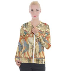 Egyptian Man Sun God Ra Amun Casual Zip Up Jacket
