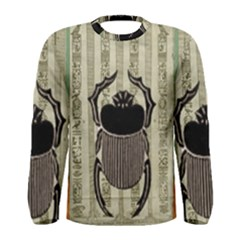 Egyptian Design Beetle Men s Long Sleeve Tee