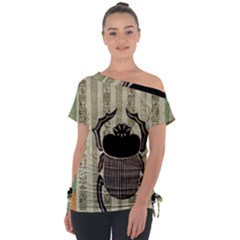 Egyptian Design Beetle Tie Up Tee by Sapixe