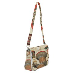 Egyptian Architecture Column Shoulder Bag With Back Zipper by Sapixe