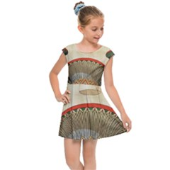 Egyptian Architecture Column Kids  Cap Sleeve Dress by Sapixe