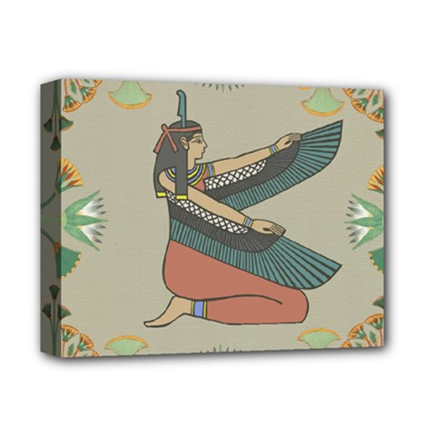 Egyptian Woman Wings Design Deluxe Canvas 14  X 11  (stretched) by Sapixe