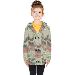 Egyptian Woman Wings Design Kids  Double Breasted Button Coat