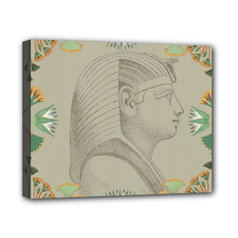 Pharaoh Egyptian Design Man King Canvas 10  X 8  (stretched)
