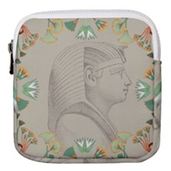 Pharaoh Egyptian Design Man King Mini Square Pouch by Sapixe