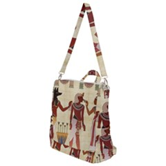 Egyptian Design Man Woman Priest Crossbody Backpack