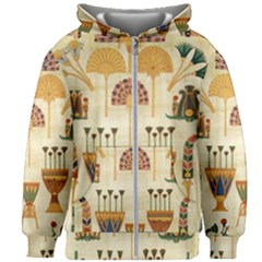 Egyptian Paper Papyrus Hieroglyphs Kids  Zipper Hoodie Without Drawstring