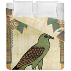 Egyptian Paper Papyrus Bird Duvet Cover Double Side (california King Size) by Sapixe