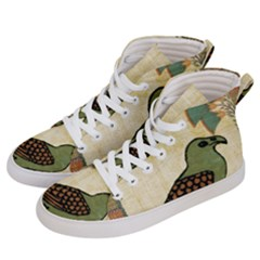 Egyptian Paper Papyrus Bird Men s Hi-top Skate Sneakers by Sapixe