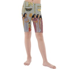 Egyptian Paper Women Child Owl Kids  Mid Length Swim Shorts