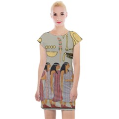 Egyptian Paper Women Child Owl Cap Sleeve Bodycon Dress