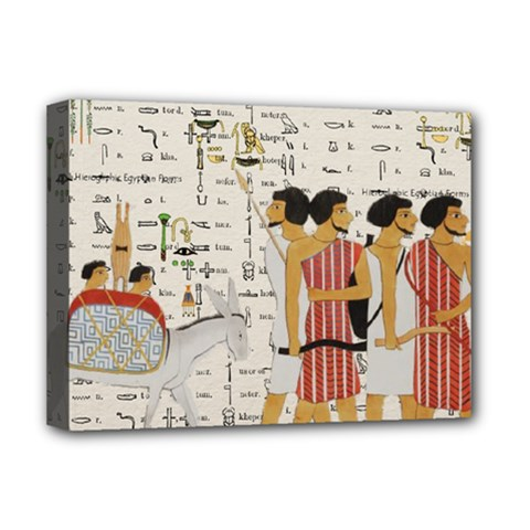 Egyptian Design Men Worker Slaves Deluxe Canvas 16  X 12  (stretched)  by Sapixe
