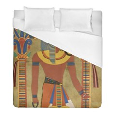 Egyptian Tutunkhamun Pharaoh Design Duvet Cover (full/ Double Size) by Sapixe