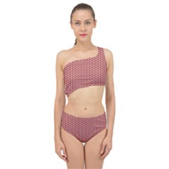 Pattern Star Backround Spliced Up Two Piece Swimsuit