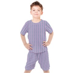 Pattern Star Flower Backround Kids  Tee And Shorts Set by HermanTelo