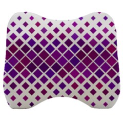Pattern Square Purple Horizontal Velour Head Support Cushion