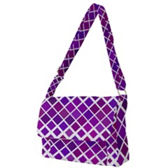 Pattern Square Purple Horizontal Full Print Messenger Bag