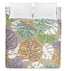 Pattern Leaves Banana Rainbow Duvet Cover Double Side (queen Size) by HermanTelo