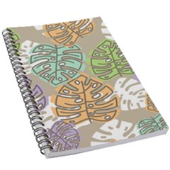 Pattern Leaves Banana Rainbow 5 5  X 8 5  Notebook by HermanTelo