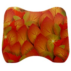 Pattern Texture Leaf Velour Head Support Cushion