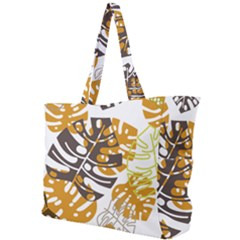 Pattern Leaves Simple Shoulder Bag