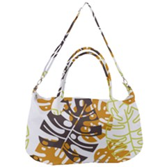 Pattern Leaves Removal Strap Handbag