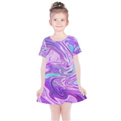 Pattern Texture Art Rainbow Kids  Simple Cotton Dress by HermanTelo