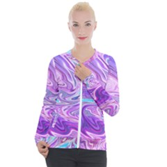 Pattern Texture Art Rainbow Casual Zip Up Jacket