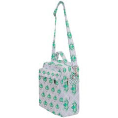 Plant Pattern Green Leaf Flora Crossbody Day Bag by HermanTelo