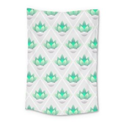Plant Pattern Green Leaf Flora Small Tapestry by HermanTelo