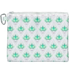 Plant Pattern Green Leaf Flora Canvas Cosmetic Bag (xxxl) by HermanTelo