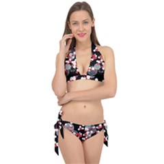 Plum Snow Ring Tie It Up Bikini Set