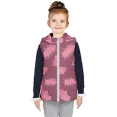 Plumelet Pen Ethnic Elegant Hippie Kids  Hooded Puffer Vest
