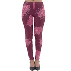 Plumelet Pen Ethnic Elegant Hippie Lightweight Velour Leggings