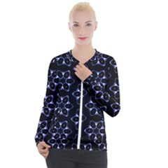 Purple Circle Wallpaper Casual Zip Up Jacket