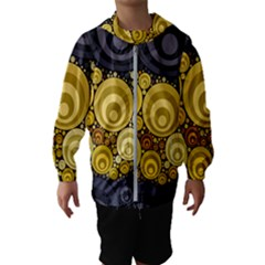 Retro Color Style Kids  Hooded Windbreaker