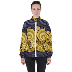 Retro Color Style Women s High Neck Windbreaker