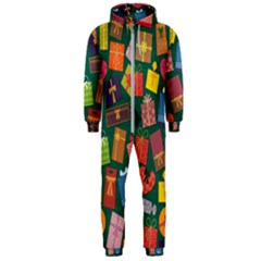 Presents Gifts Background Colorful Hooded Jumpsuit (men)
