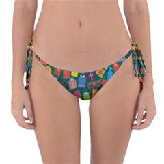 Presents Gifts Background Colorful Reversible Bikini Bottom