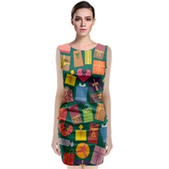 Presents Gifts Background Colorful Classic Sleeveless Midi Dress