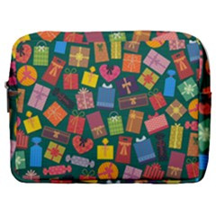 Presents Gifts Background Colorful Make Up Pouch (large)