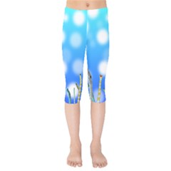 Sea Underwater Life Fish Kids  Capri Leggings  by HermanTelo
