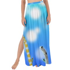Sea Underwater Life Fish Maxi Chiffon Tie Up Sarong by HermanTelo