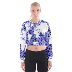 Sea Ocean Underwater Cropped Sweatshirt by HermanTelo